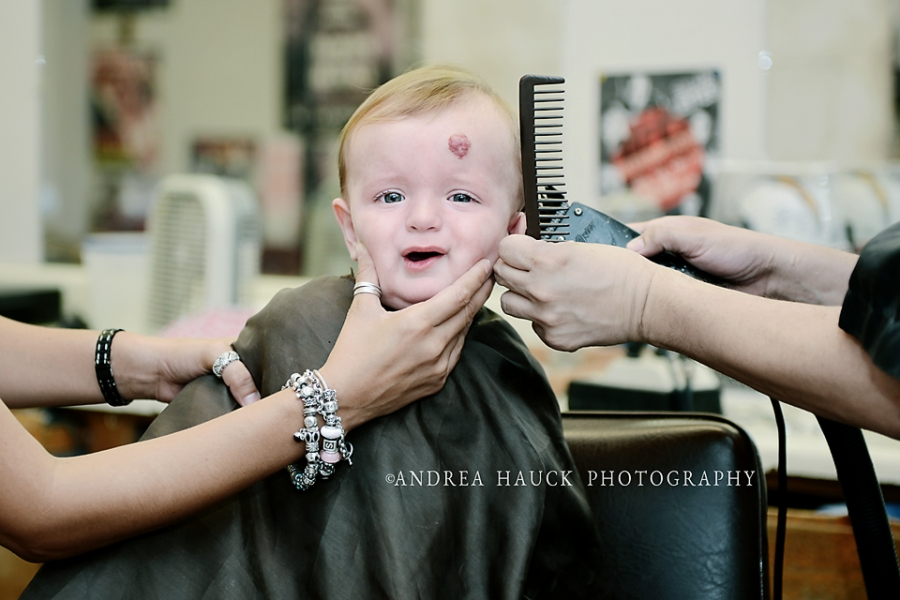First Haircut Yuma Childrens Photographer Andrea Hauck Photography